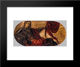 Allegory Of The Scuola Di San Teodoro: Modern Black Framed Art Print by Tintoretto