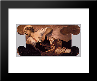 Allegory Of Truth: Modern Black Framed Art Print by Tintoretto