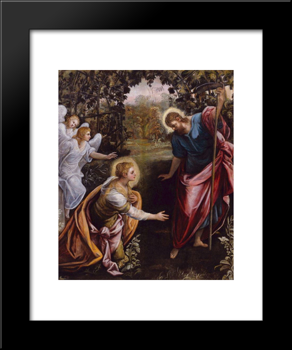 Do Not Touch Me: Modern Black Framed Art Print by Tintoretto