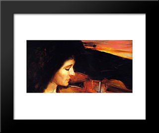 Adagio: Modern Black Framed Art Print by Tom Roberts