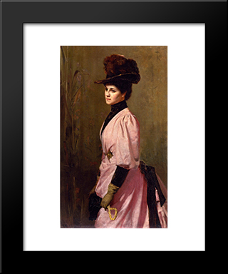 An Australian Native: Modern Black Framed Art Print by Tom Roberts