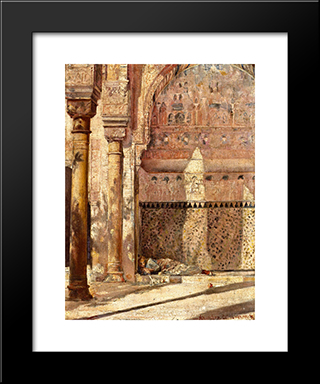 Baskin - A Corner In The Alhambra: Modern Black Framed Art Print by Tom Roberts