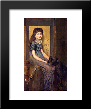 Blue Eyes And Brown: Modern Black Framed Art Print by Tom Roberts
