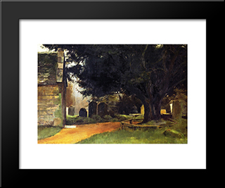 Churchyard At Shillingstone: Modern Black Framed Art Print by Tom Roberts