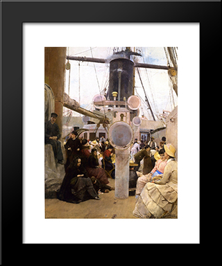 Coming South: Modern Black Framed Art Print by Tom Roberts