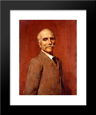 Edward Ogilvie: Modern Black Framed Art Print by Tom Roberts