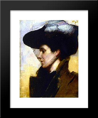 Eileen: Modern Black Framed Art Print by Tom Roberts