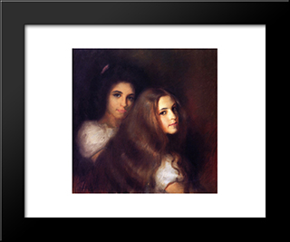Elizabeh And Carmen Pinschof: Modern Black Framed Art Print by Tom Roberts