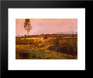Evening, When The Quiet East Flushes Faintly At The Sun'S Lasts Look: Modern Black Framed Art Print by Tom Roberts