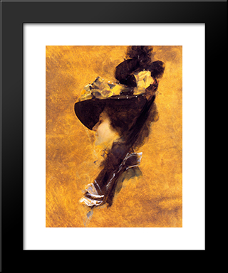 Frances Ross: Modern Black Framed Art Print by Tom Roberts