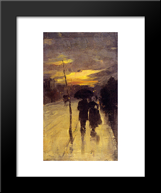 Going Home: Modern Black Framed Art Print by Tom Roberts