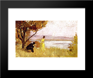 Impression: Modern Black Framed Art Print by Tom Roberts