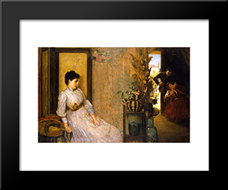 Jealousy: Modern Black Framed Art Print by Tom Roberts