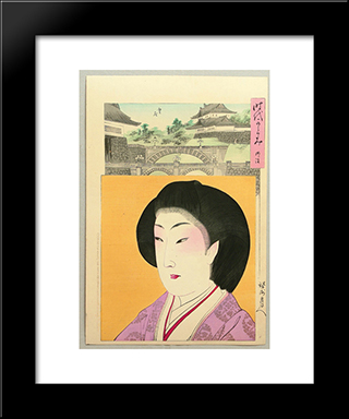 Mirror Of The Ages - Meiji: Modern Black Framed Art Print by Toyohara Chikanobu
