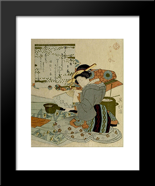 Huang Xiang (O Ko) Cooling The Hot Iron: Modern Black Framed Art Print by Toyota Hokkei