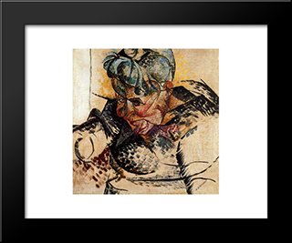 Abstract Dimensions: Modern Black Framed Art Print by Umberto Boccioni