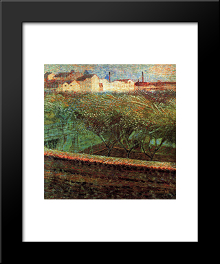 April Evening: Modern Black Framed Art Print by Umberto Boccioni