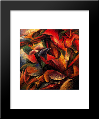 Dynamism Of A Human Body: Modern Black Framed Art Print by Umberto Boccioni