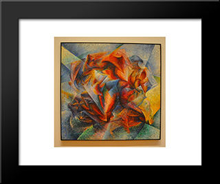 Dynamism Of A Soccer Player: Modern Black Framed Art Print by Umberto Boccioni