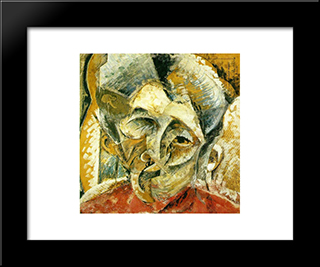 Dynamism Of A Woman'S Head: Modern Black Framed Art Print by Umberto Boccioni