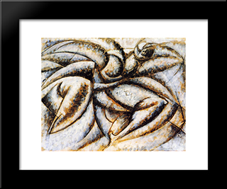 Dynamism Of The Human Body: Modern Black Framed Art Print by Umberto Boccioni