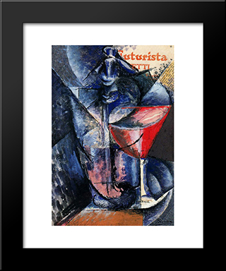 Glass And Syphon: Modern Black Framed Art Print by Umberto Boccioni