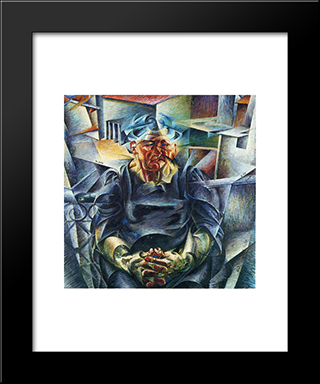 Horizontal Volumes: Modern Black Framed Art Print by Umberto Boccioni