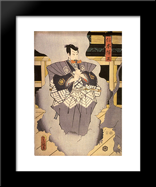 Actor As Nikki Danjo: Modern Black Framed Art Print by Utagawa Kunisada