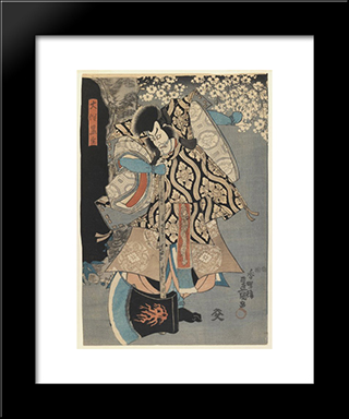 The Actor: Modern Black Framed Art Print by Utagawa Kunisada