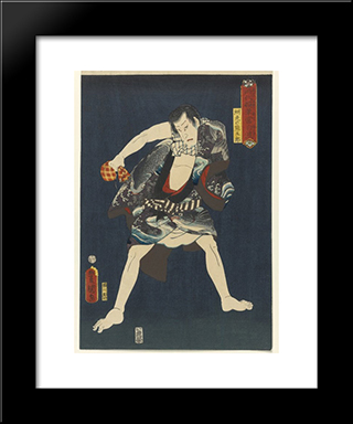 The Actor Ichikawa Kodanji Iv As Subashiri No Kumagoro: Modern Black Framed Art Print by Utagawa Kunisada