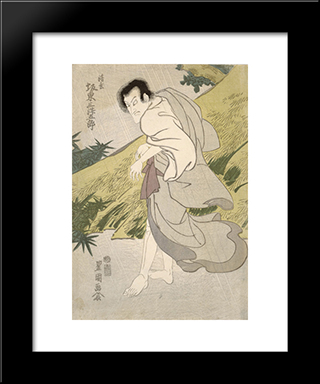 Actor Bando Mitsugoro Iii As Seigen: Modern Black Framed Art Print by Utagawa Toyokuni