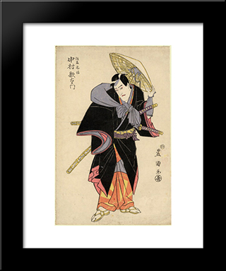 Actor In Role: Modern Black Framed Art Print by Utagawa Toyokuni