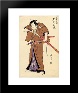 The Actor Otani Monzo In The Role Of Igarashi Tenzen: Modern Black Framed Art Print by Utagawa Toyokuni