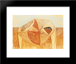 Ancestral Nature: Modern Black Framed Art Print by Vajda Lajos