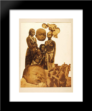 Chinese Execution: Modern Black Framed Art Print by Vajda Lajos