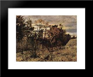 Autumn Evening. Domotkanovo: Modern Black Framed Art Print by Valentin Serov