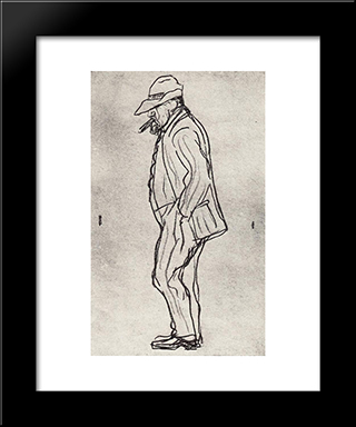 Dull Serov: Modern Black Framed Art Print by Valentin Serov