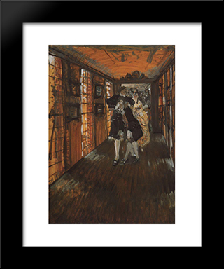 Grand Eagle Cup: Modern Black Framed Art Print by Valentin Serov