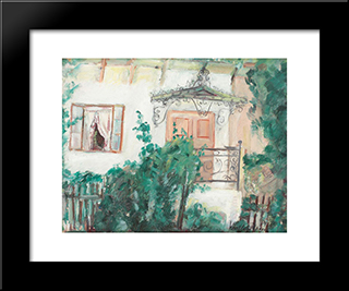 Marquee House (Painter'S Wife'S Home): Modern Black Framed Art Print by Vasile Popescu