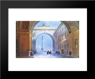 The Arch Of The General Headquarters Building: Modern Black Framed Art Print by Vasily Sadovnikov