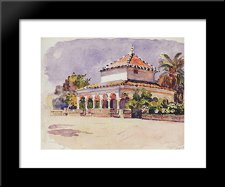 Alcazar Of Seville: Modern Black Framed Art Print by Vasily Surikov