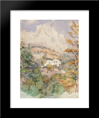 Alupka. Ai-Petri.: Modern Black Framed Art Print by Vasily Surikov