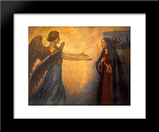 Annunciation: Modern Black Framed Art Print by Vasily Surikov