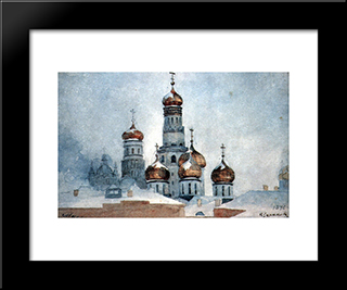 Belfry Ivan The Great: Modern Black Framed Art Print by Vasily Surikov
