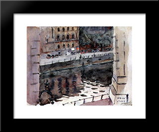 Berlin. Enbankment.: Modern Black Framed Art Print by Vasily Surikov