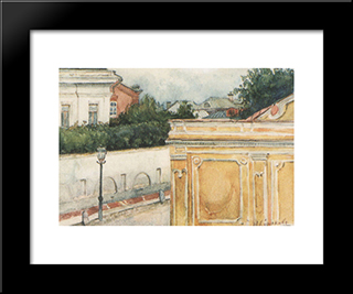Bit Of Moscow: Modern Black Framed Art Print by Vasily Surikov