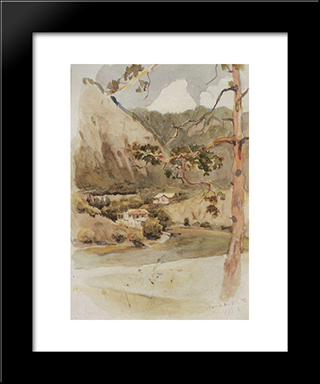 Borjomi: Modern Black Framed Art Print by Vasily Surikov