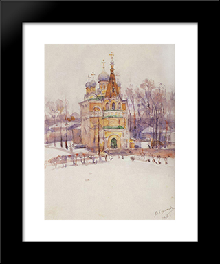 Church: Modern Black Framed Art Print by Vasily Surikov