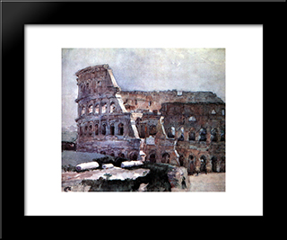 Colosseum: Modern Black Framed Art Print by Vasily Surikov