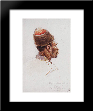 Cossack: Modern Black Framed Art Print by Vasily Surikov